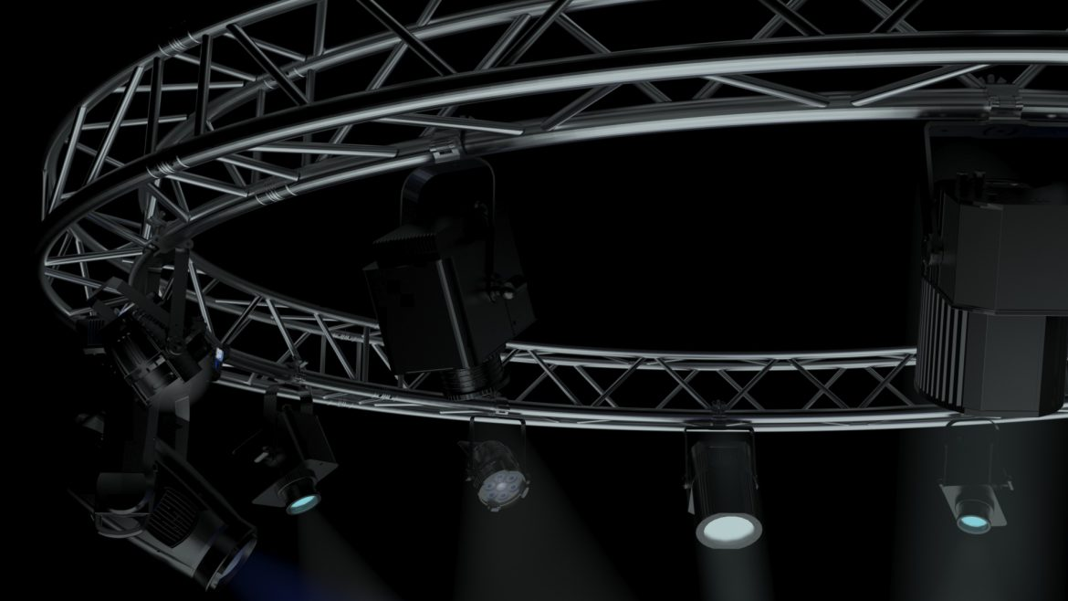 circle square truss 400cm-stage lights 3d model 3ds max fbx c4d dae  obj other 298968