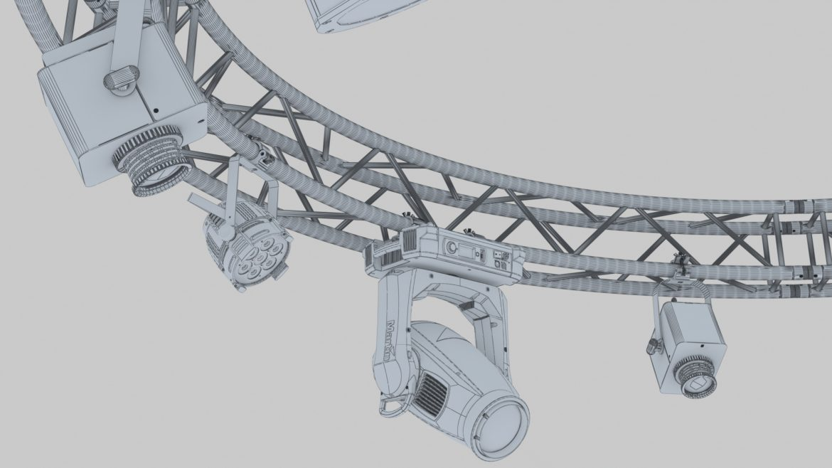 circle square truss 400cm-stage lights 3d model 3ds max fbx c4d dae  obj other 298971