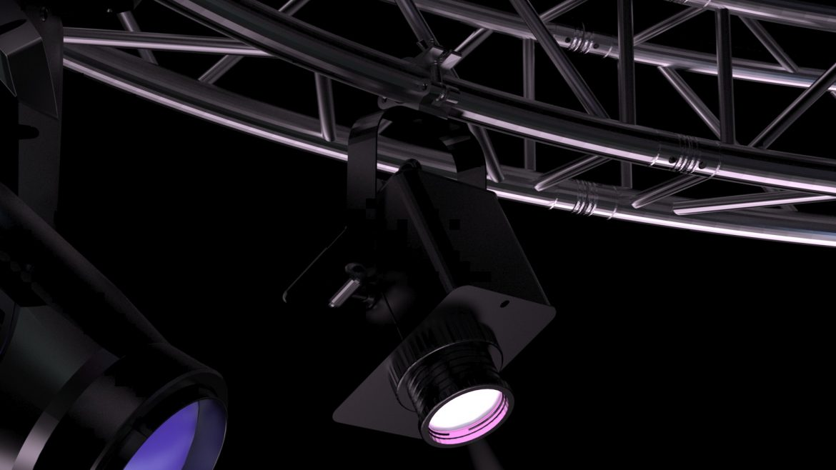 circle square truss 400cm-stage lights 3d model 3ds max fbx c4d dae  obj other 298977