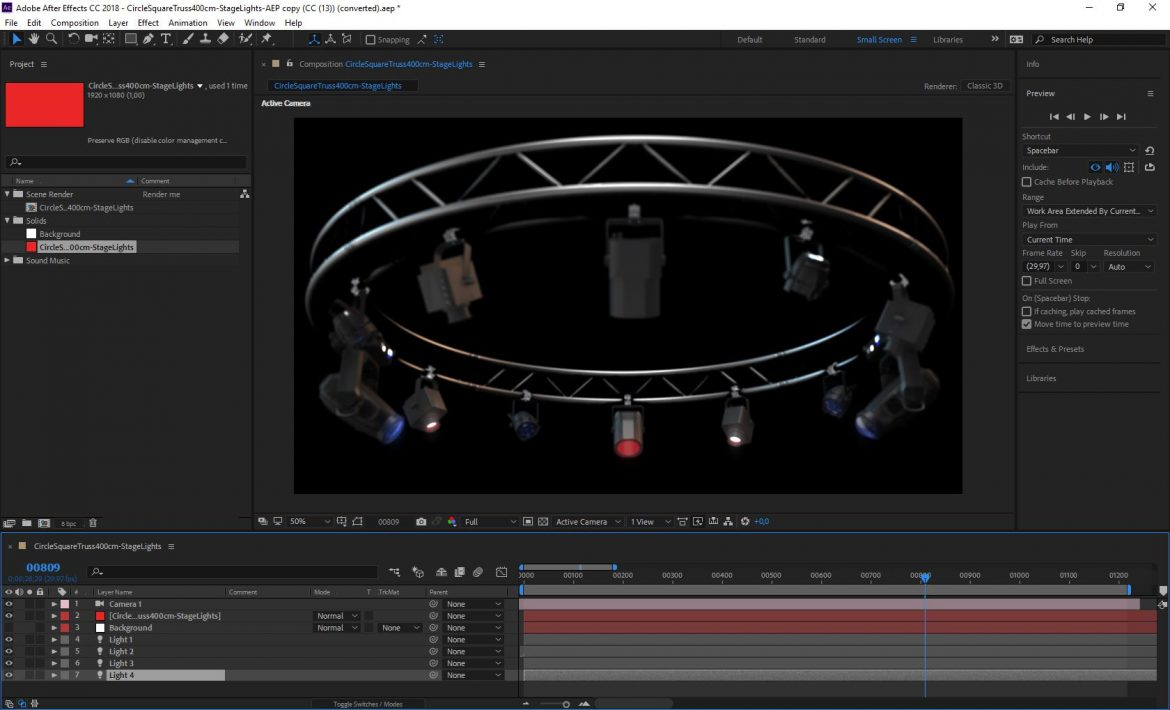 circle square truss 400cm-stage lights 3d model 3ds max fbx c4d dae  obj other 298981