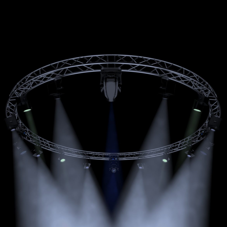 circle square truss 700cm-stage lights 3d model 3ds max fbx c4d dae  obj other 298986