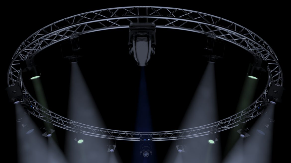 circle square truss 700cm-stage lights 3d model 3ds max fbx c4d dae  obj other 298987