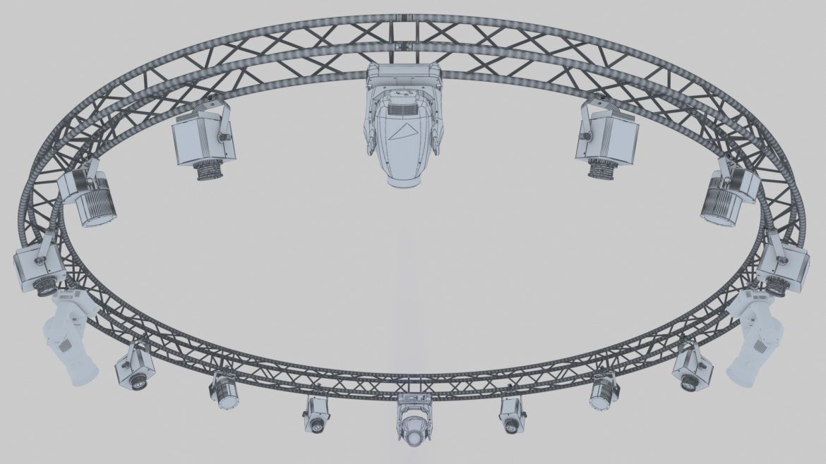 circle square truss 700cm-stage lights 3d model 3ds max fbx c4d dae  obj other 298988