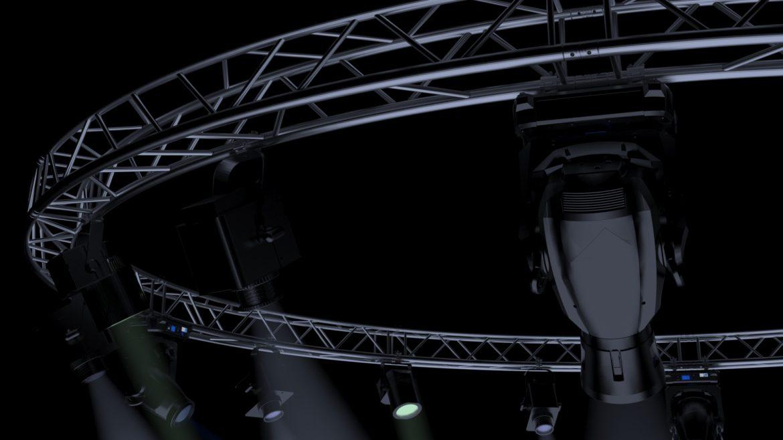 circle square truss 700cm-stage lights 3d model 3ds max fbx c4d dae  obj other 298989
