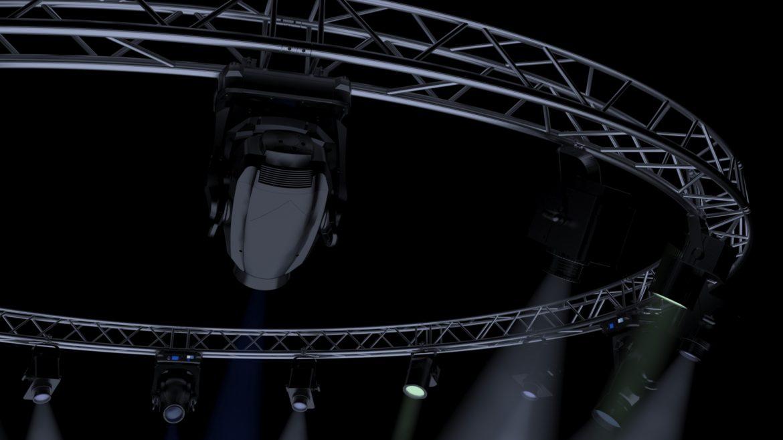 circle square truss 700cm-stage lights 3d model 3ds max fbx c4d dae  obj other 298990