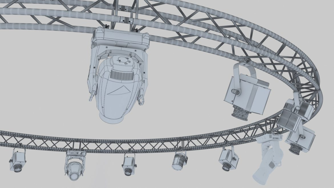 circle square truss 700cm-stage lights 3d model 3ds max fbx c4d dae  obj other 298991