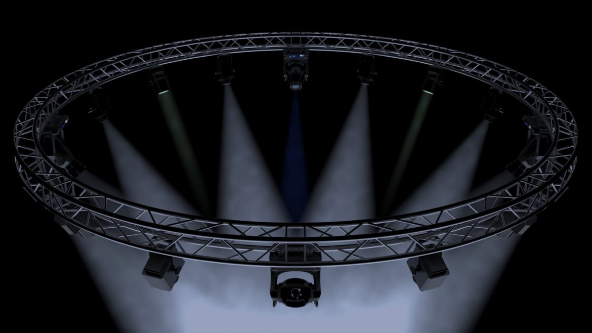 circle square truss 700cm-stage lights 3d model 3ds max fbx c4d dae  obj other 298992