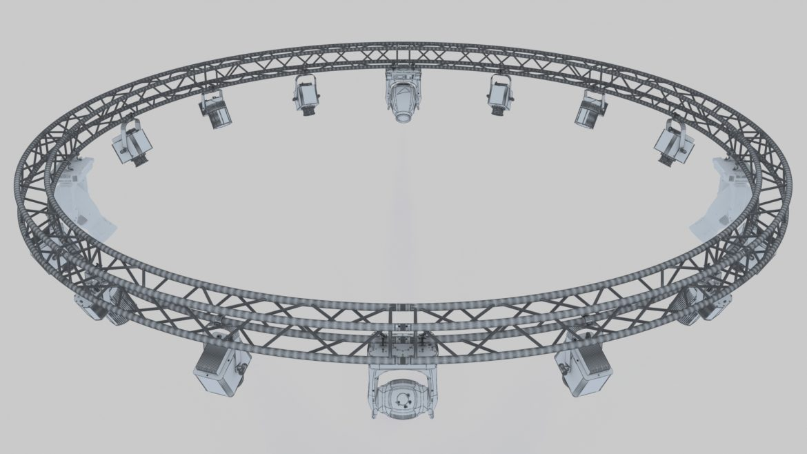 circle square truss 700cm-stage lights 3d model 3ds max fbx c4d dae  obj other 298993