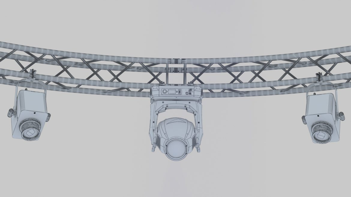 circle square truss 700cm-stage lights 3d model 3ds max fbx c4d dae  obj other 298995