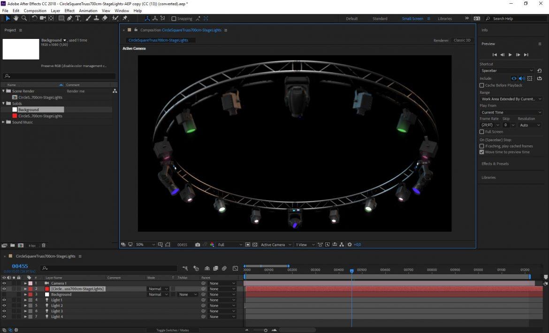 circle square truss 700cm-stage lights 3d model 3ds max fbx c4d dae  obj other 299003