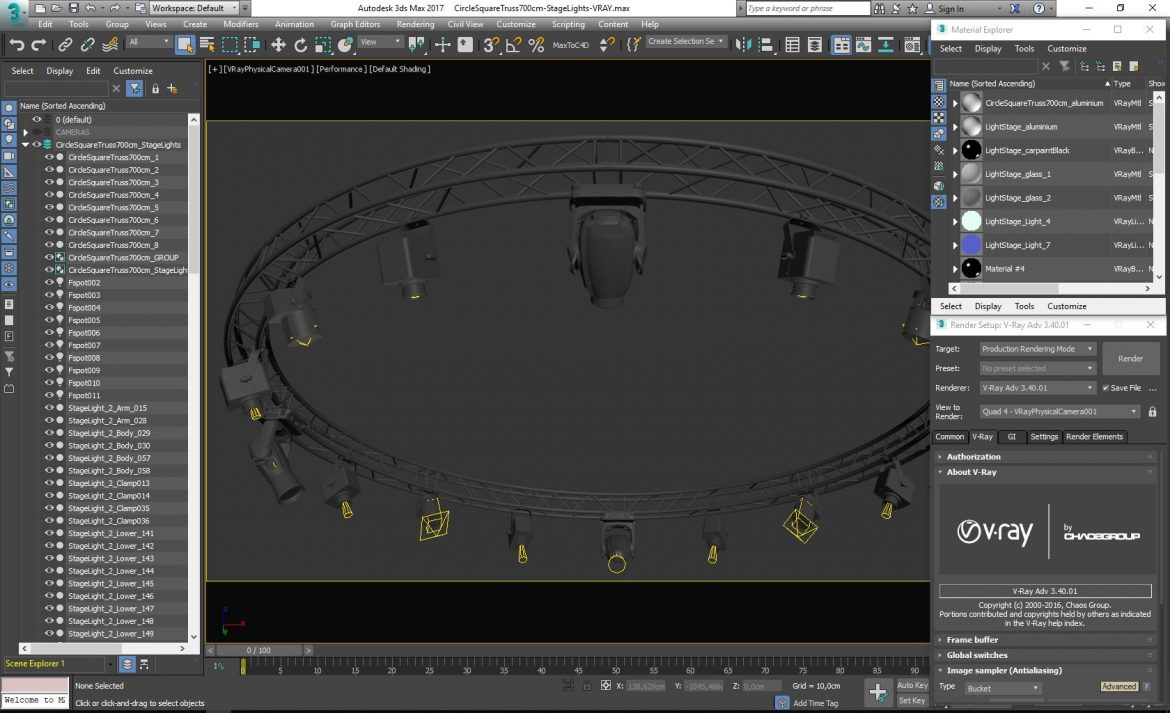circle square truss 700cm-stage lights 3d model 3ds max fbx c4d dae  obj other 299007