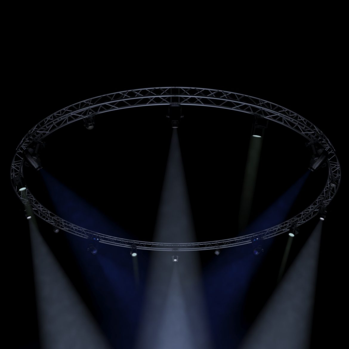 circle square truss1000cm-stage lights 3d model 3ds max fbx c4d dae  obj other 299008