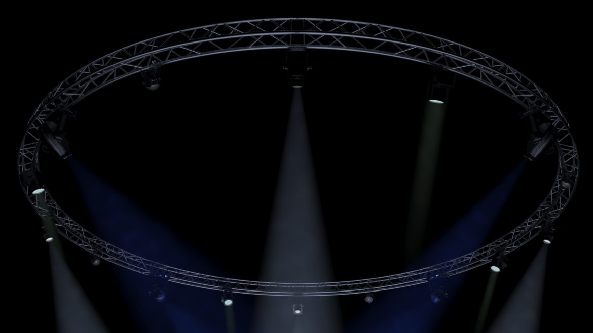 circle square truss1000cm-stage lights 3d model 3ds max fbx c4d dae  obj other 299009