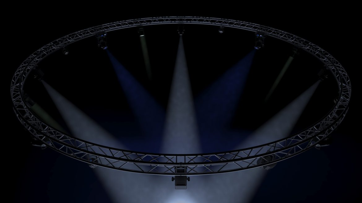 circle square truss1000cm-stage lights 3d model 3ds max fbx c4d dae  obj other 299011