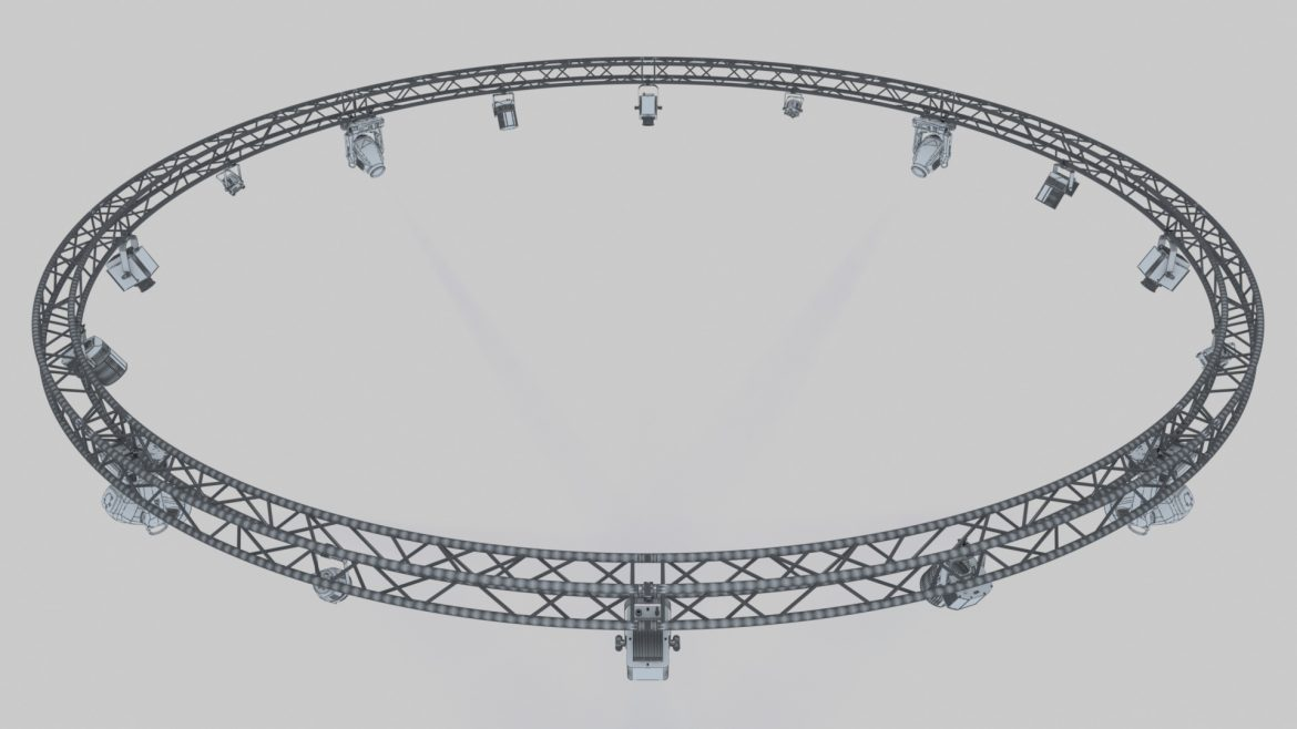 circle square truss1000cm-stage lights 3d model 3ds max fbx c4d dae  obj other 299012
