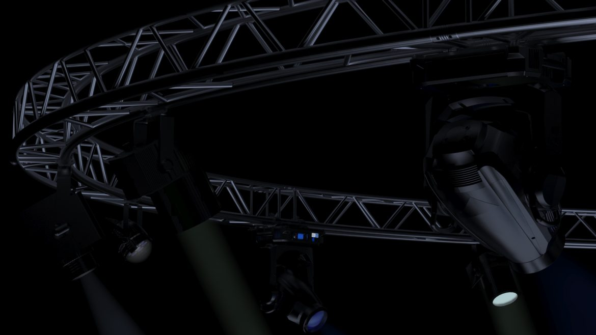 circle square truss1000cm-stage lights 3d model 3ds max fbx c4d dae  obj other 299013