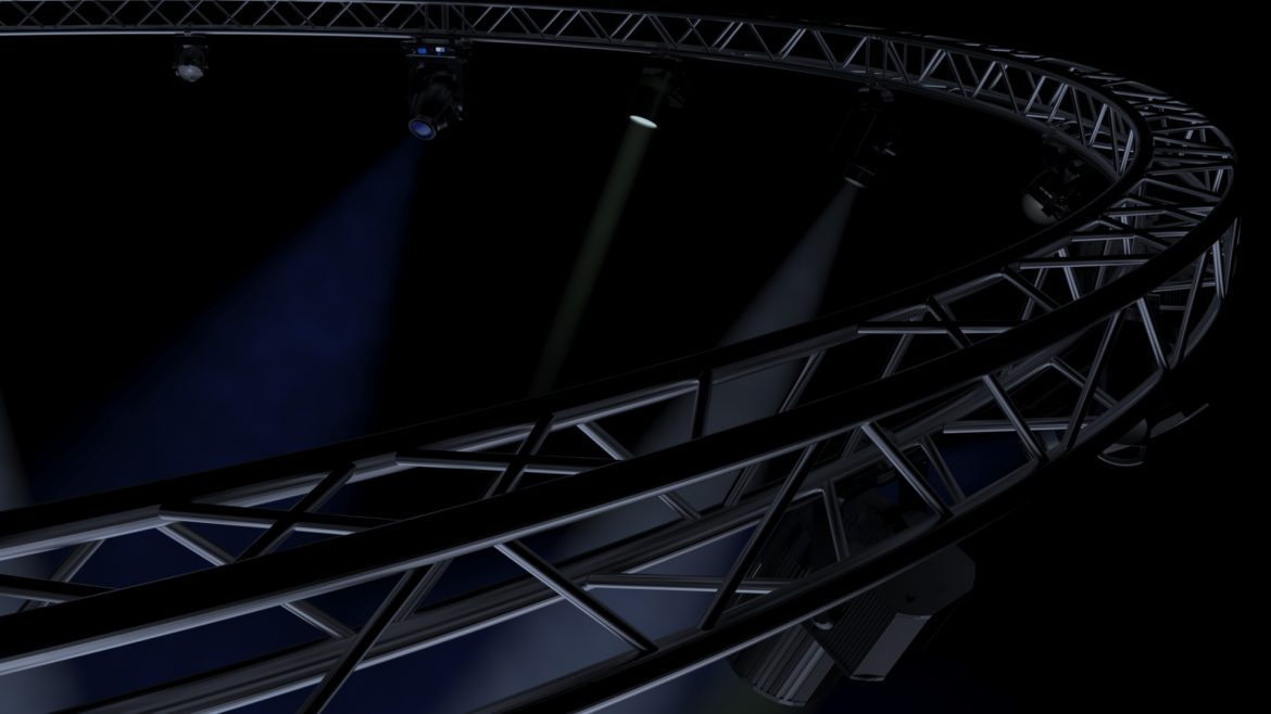 circle square truss1000cm-stage lights 3d model 3ds max fbx c4d dae  obj other 299017