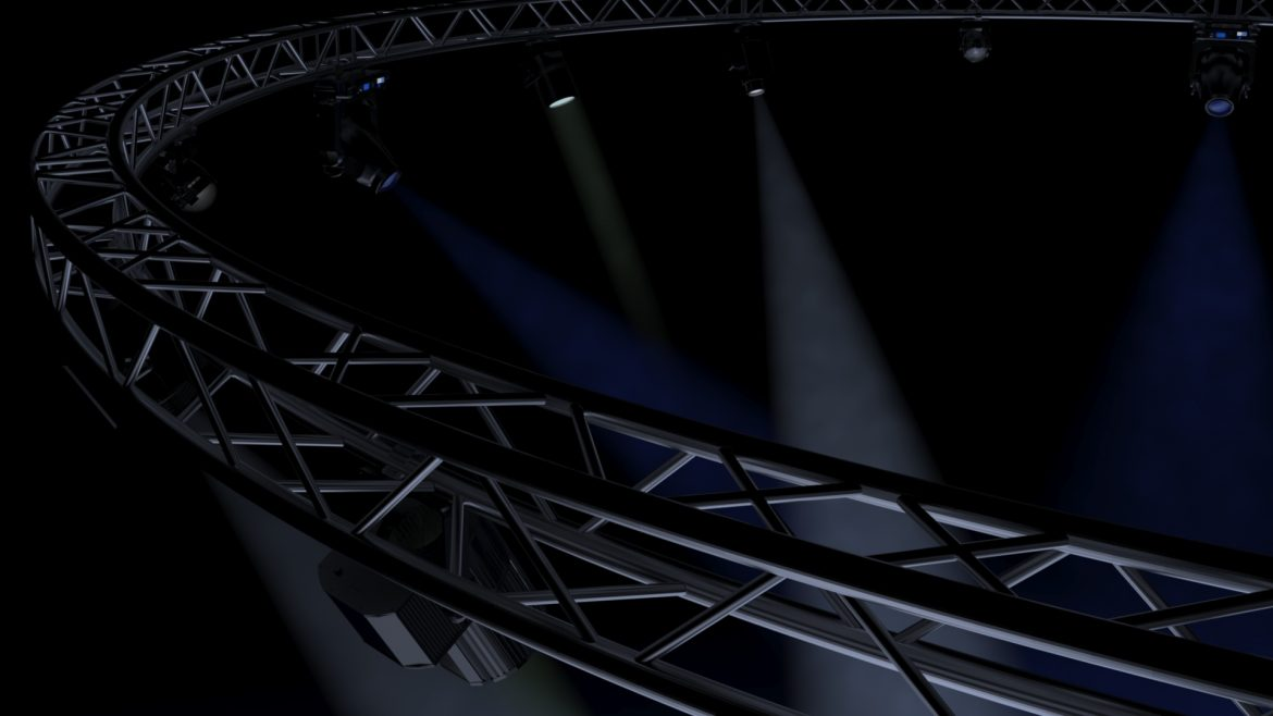 circle square truss1000cm-stage lights 3d model 3ds max fbx c4d dae  obj other 299019