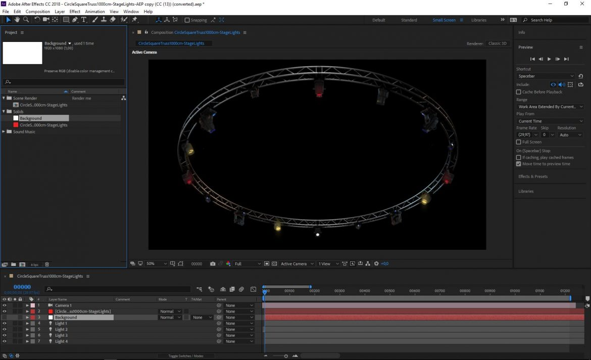 circle square truss1000cm-stage lights 3d model 3ds max fbx c4d dae  obj other 299023