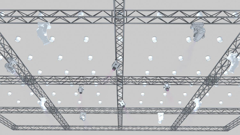 big square truss-stage lights 3d model 3ds max fbx dae  obj other 299032