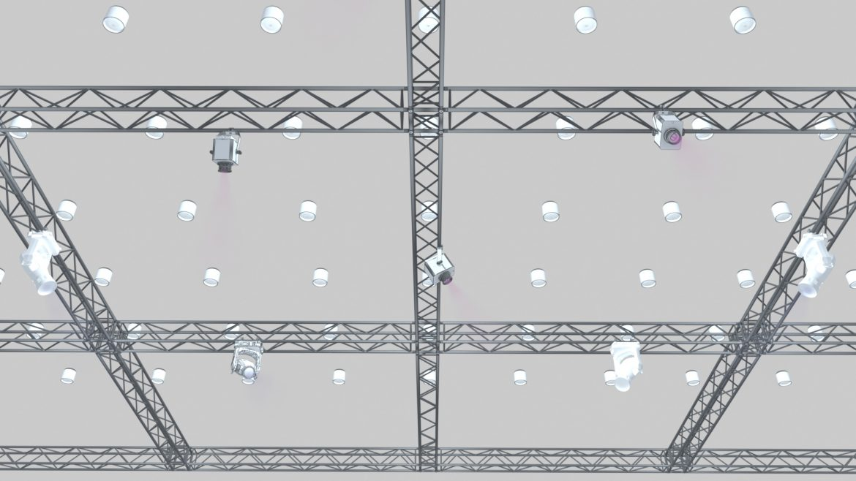big square truss-stage lights 3d model 3ds max fbx dae  obj other 299034