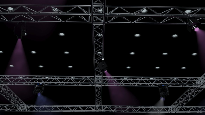 big square truss-stage lights 3d model 3ds max fbx dae  obj other 299035