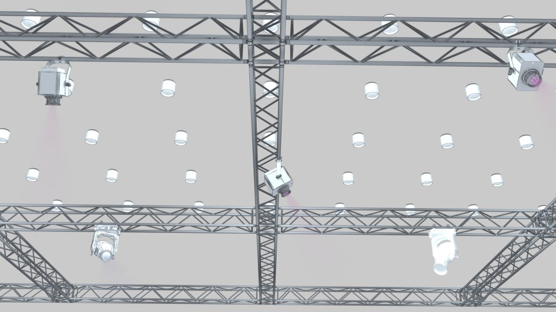 big square truss-stage lights 3d model 3ds max fbx dae  obj other 299036