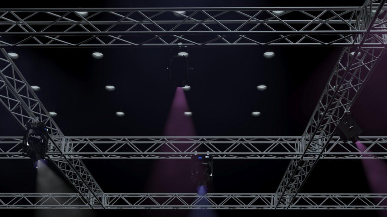 big square truss-stage lights 3d model 3ds max fbx dae  obj other 299037