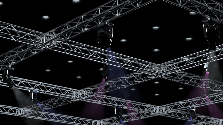 big square truss-stage lights 3d model 3ds max fbx dae  obj other 299038