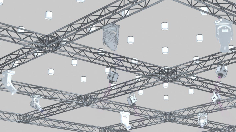 big square truss-stage lights 3d model 3ds max fbx dae  obj other 299039