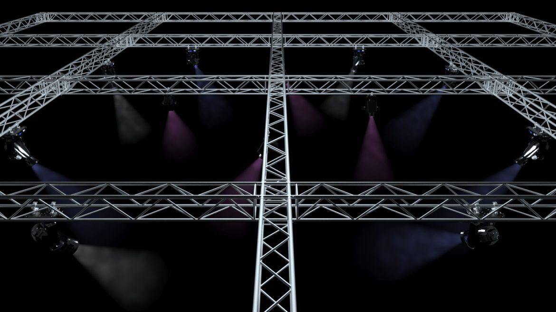 big square truss-stage lights 3d model 3ds max fbx dae  obj other 299040
