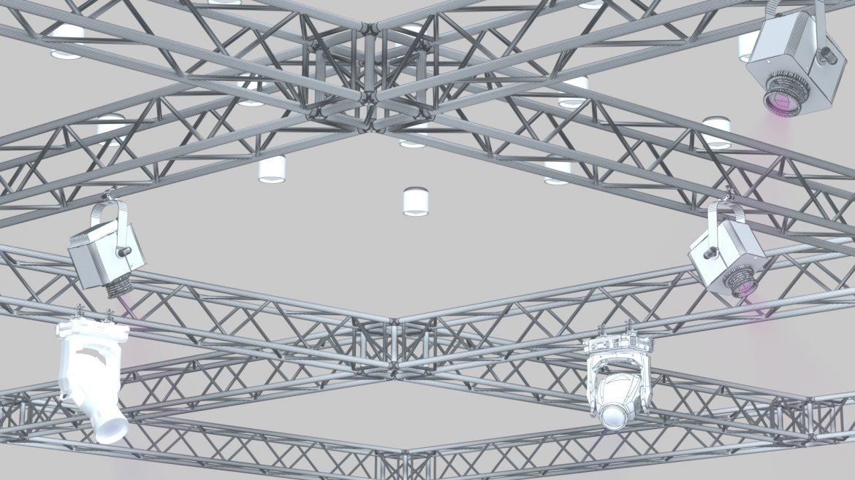 big square truss-stage lights 3d model 3ds max fbx dae  obj other 299041