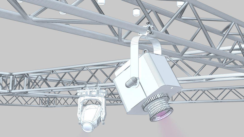big square truss-stage lights 3d model 3ds max fbx dae  obj other 299043