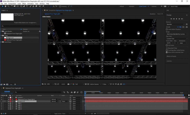 big square truss-stage lights 3d model 3ds max fbx dae  obj other 299045