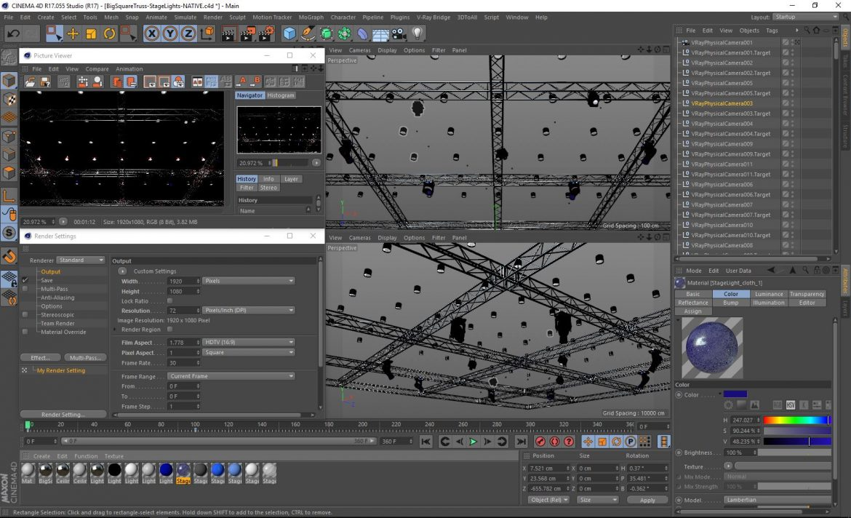 big square truss-stage lights 3d model 3ds max fbx dae  obj other 299047