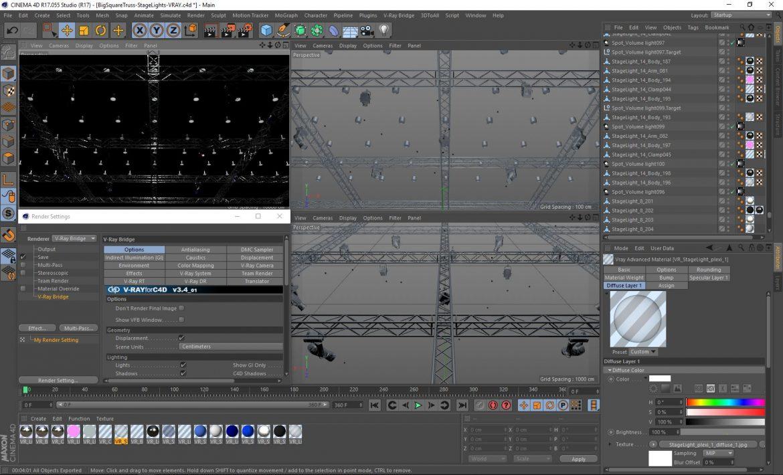 big square truss-stage lights 3d model 3ds max fbx dae  obj other 299048