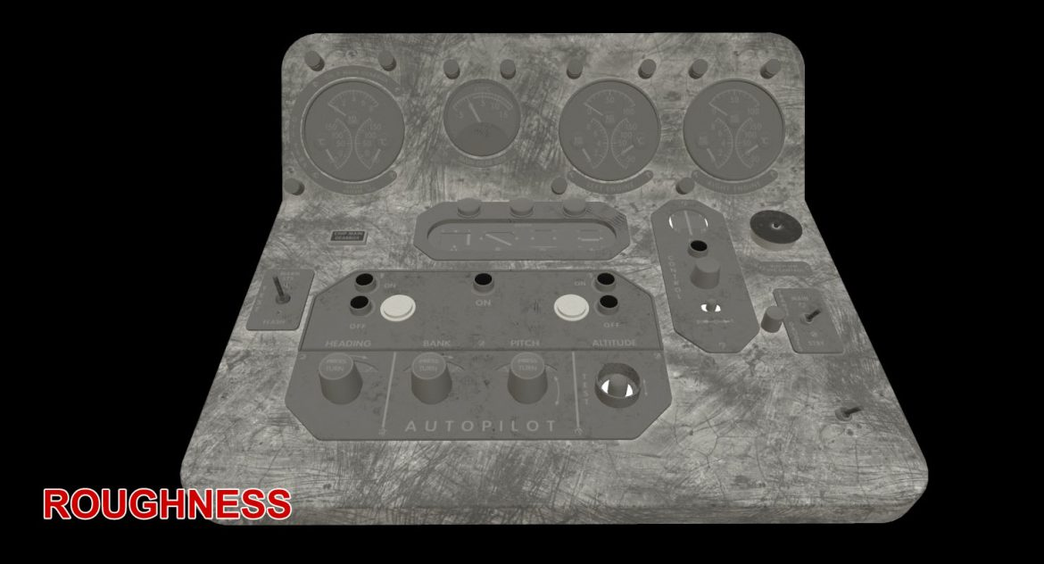 mi-8mt mi-17mt central panels board english 3d model 3ds max fbx obj 299229