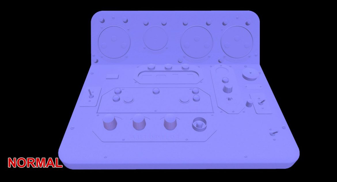 mi-8mt mi-17mt central panels board english 3d model 3ds max fbx obj 299231