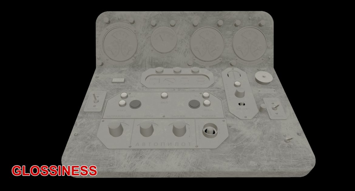 mi-8mt mi-17mt central panels board russian 3d model 3ds max fbx obj 299273