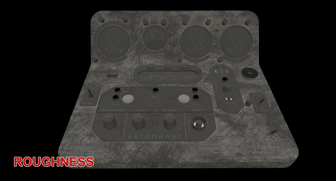 mi-8mt mi-17mt central panels board russian 3d model 3ds max fbx obj 299277