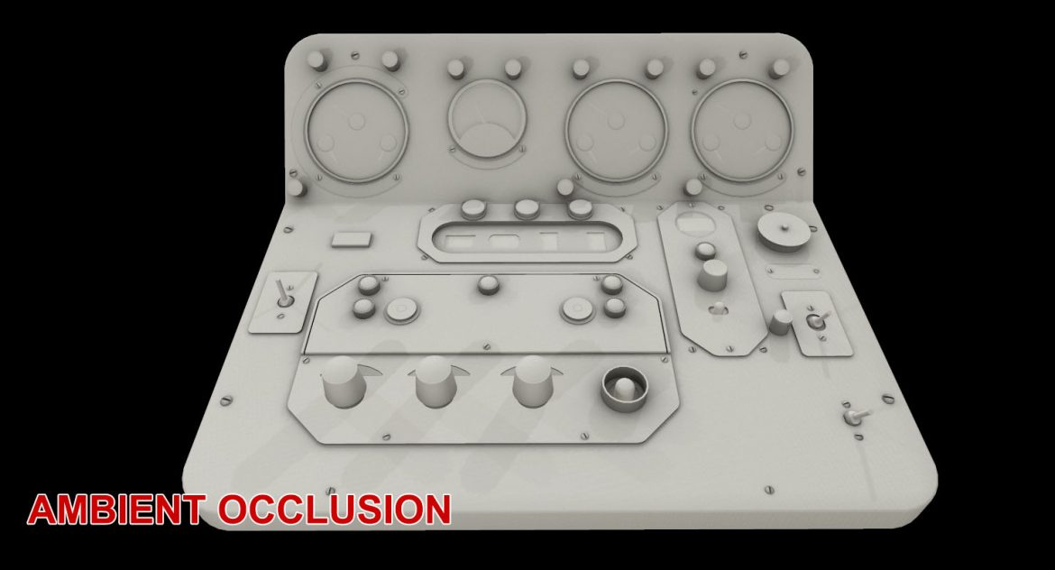 mi-8mt mi-17mt central panels board russian 3d model 3ds max fbx obj 299278
