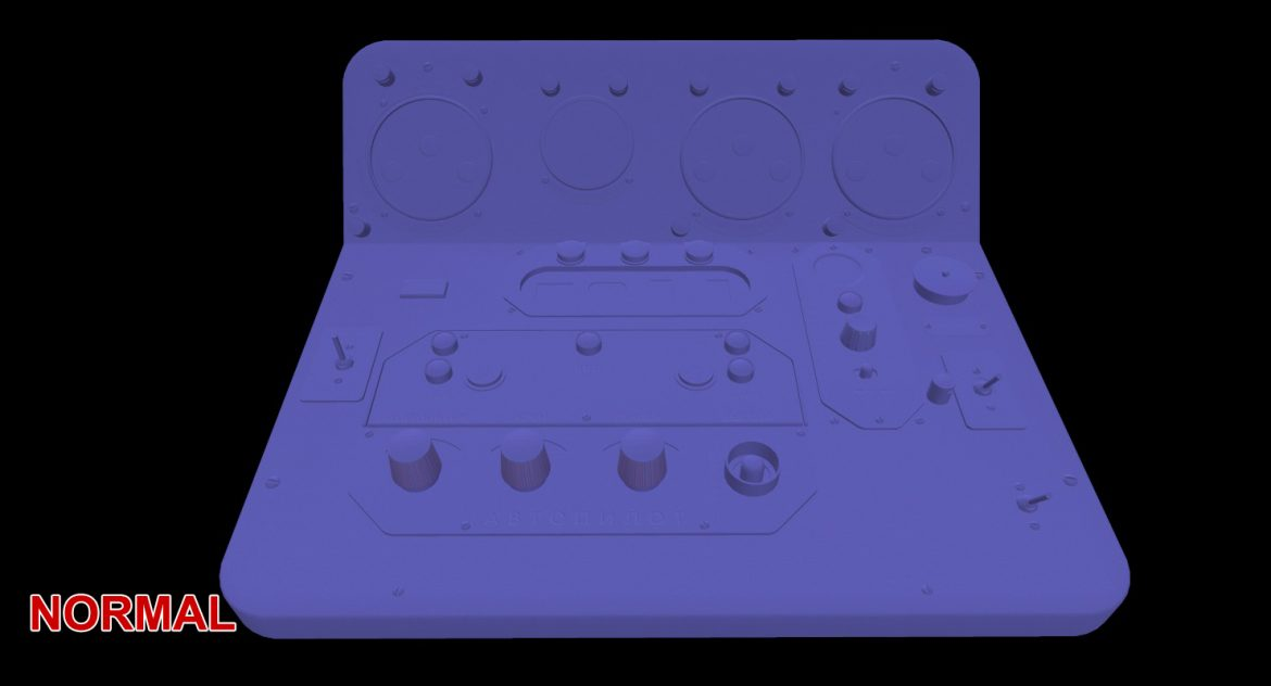 mi-8mt mi-17mt central panels board russian 3d model 3ds max fbx obj 299280