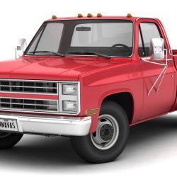 generic dually pickup truck 1 3d model 3ds max fbx obj 299386