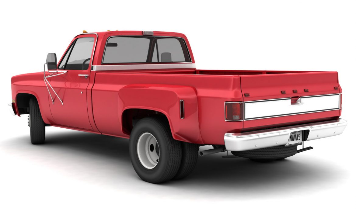 generic dually pickup truck 1 3d model 3ds max fbx obj 299387