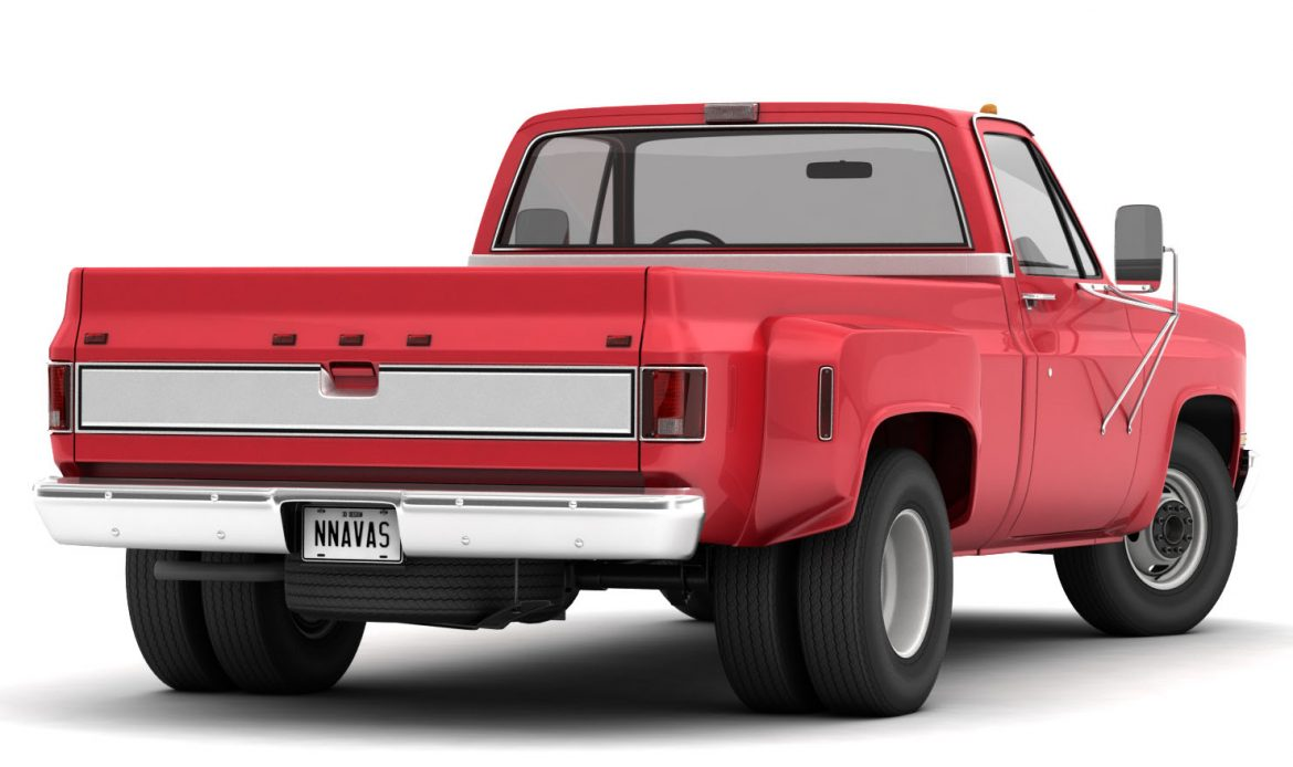 generic dually pickup truck 1 3d model 3ds max fbx obj 299389