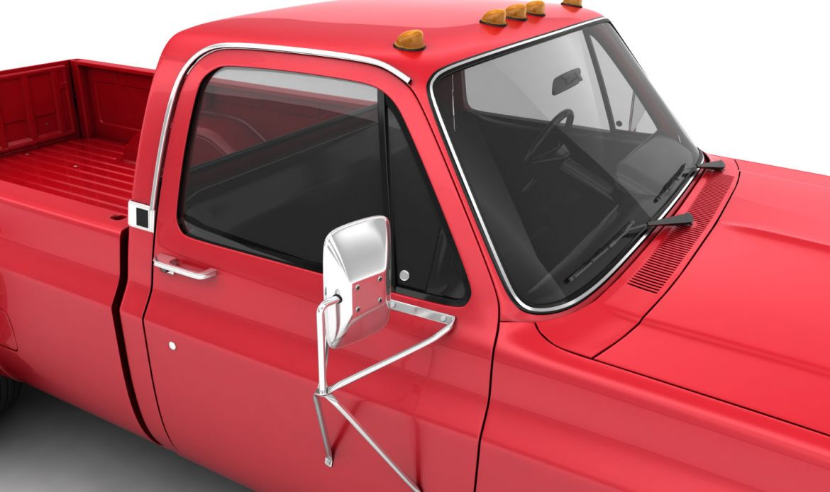 generic dually pickup truck 1 3d model 3ds max fbx obj 299395