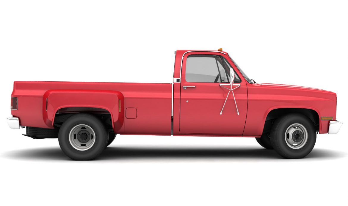 generic dually pickup truck 1 3d model 3ds max fbx obj 299396