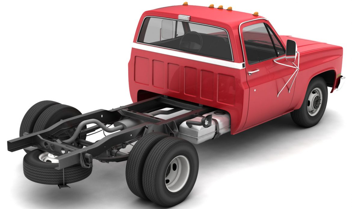 generic dually pickup truck 1 3d model 3ds max fbx obj 299397