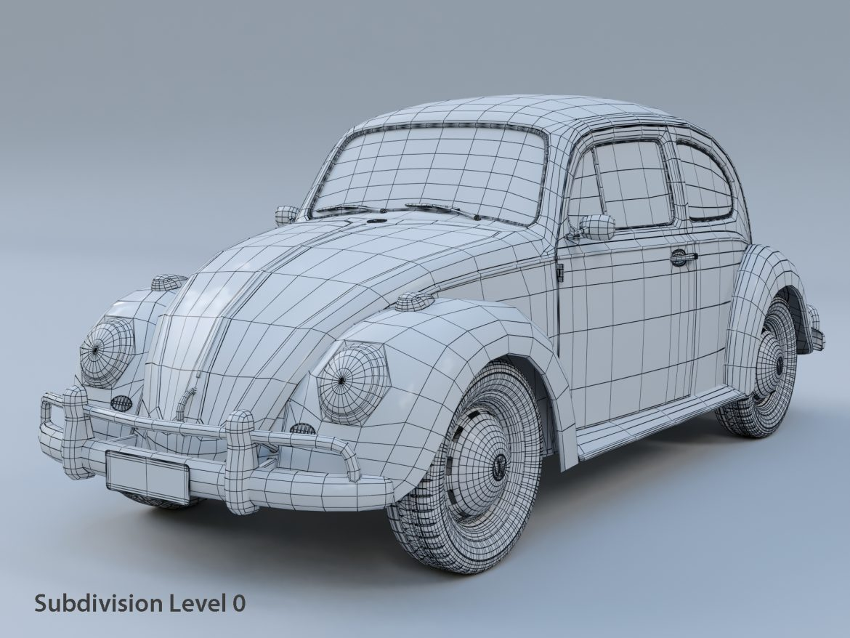 volkswagen beetle fusca 1969 3d model max c4d lxo ma mb  texture obj 299456