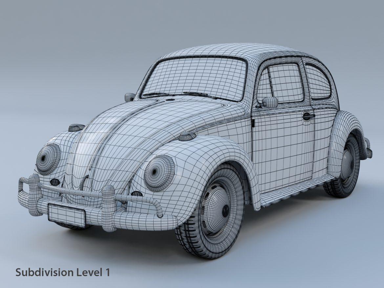 volkswagen beetle fusca 1969 3d model max c4d lxo ma mb  texture obj 299457